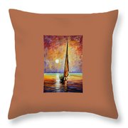 Gold Sail Throw Pillow