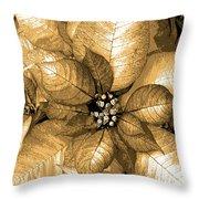 Gold Shimmer Throw Pillow