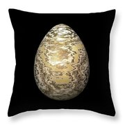 Gold-speckled Egg Throw Pillow