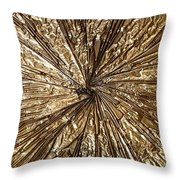 Gold Spin Throw Pillow
