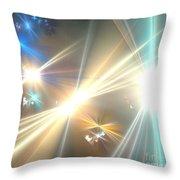 Gold Star Beams Throw Pillow