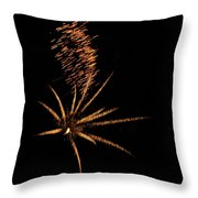 Gold Star Tail Throw Pillow