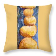 Gold Stones Throw Pillow