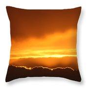 Gold Sunset Throw Pillow