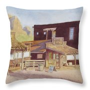 Gold Town By Superstition Mountains Throw Pillow