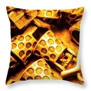 Gold Treasures Throw Pillow