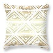 Gold Tribal Throw Pillow