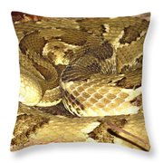 Gold Viper Throw Pillow