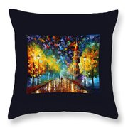 Gold Winter Throw Pillow