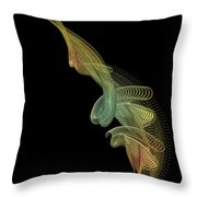 Gold Wire Abstract Throw Pillow