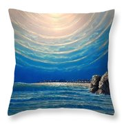 Goldcoasters Heaving In Drinks By Moonlight - Homage To Jmw Turner Throw Pillow