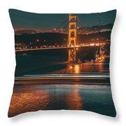 Golde Gate Bridge Throw Pillow