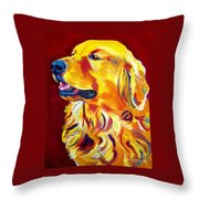 Golden - Scout Throw Pillow by Alicia VanNoy Call