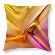 Golden Abstract 042711 Throw Pillow