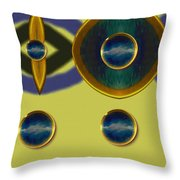 Golden Abstracte Throw Pillow