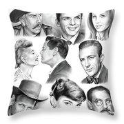 Golden Age Montage Throw Pillow