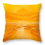 Golden Ages Throw Pillow