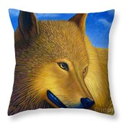 Golden Alpha Throw Pillow