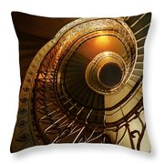Golden And Brown Spiral Stairs Throw Pillow