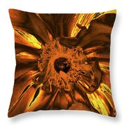 Golden Anemone Throw Pillow