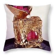 Golden Angels Throw Pillow