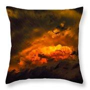 Golden Anvil Throw Pillow