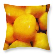Golden Apples Of The Sun Throw Pillow