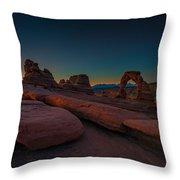 Golden Arch Throw Pillow