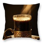 Golden Aroma Throw Pillow