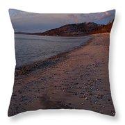 Golden Beach Throw Pillow