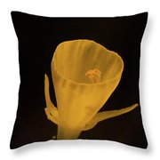 Golden Bells Carpet Daffodil With Black Background Throw Pillow