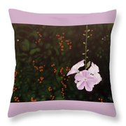 Golden Berry Throw Pillow