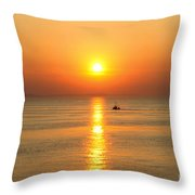 Golden Border  Throw Pillow