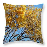Golden Boughs Throw Pillow