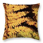 Golden Bracken Throw Pillow