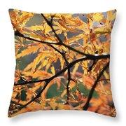 Golden Branch Throw Pillow