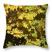 Golden Branches Throw Pillow
