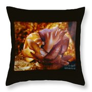Golden Brown Wild Mushroom Throw Pillow