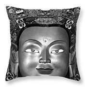 Golden Buddha Monochrome Throw Pillow