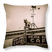 Golden Burro Cafe 2 Throw Pillow