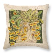 Golden Cascade Throw Pillow