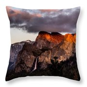 Golden Cathedral Throw Pillow