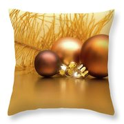 Golden Christmas Throw Pillow by Wim Lanclus
