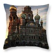 Golden Church Throw Pillow