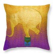 Golden Circus Throw Pillow