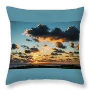 Golden Cloud Sunrise Delray Beach Florida Throw Pillow