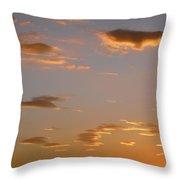 Golden Clouds Throw Pillow