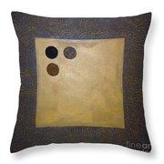 Golden Coin  Throw Pillow