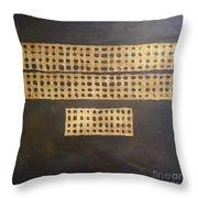 Golden Coin Number 3 Throw Pillow