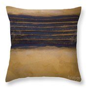 Golden Coin Number Two Throw Pillow